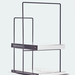 rewire magazine rack medium black 5 MH